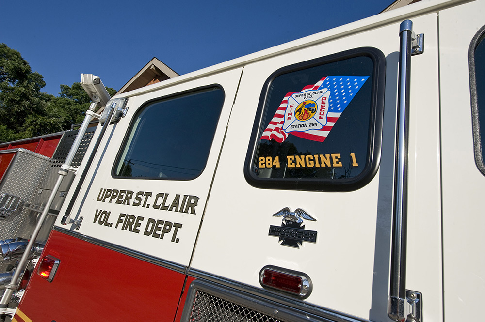 USCVFD 284 Engine 1 Window Closeup