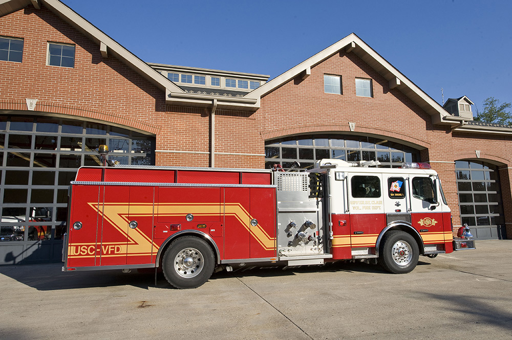 USCVFD Officer Side of 284 Engine 1